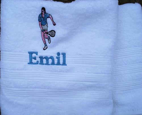 Vyšívaný ručník s jménem -TENIS
