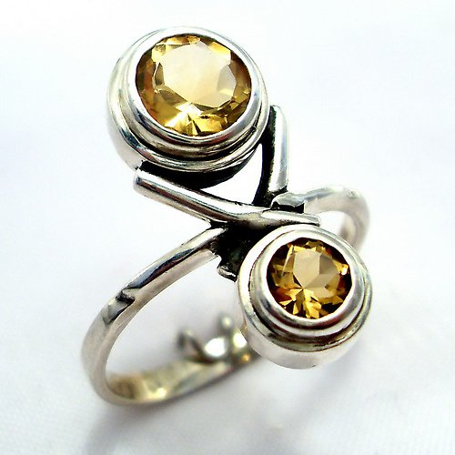 Prsten «Spolu» - stříbro 925/1000, citrín
