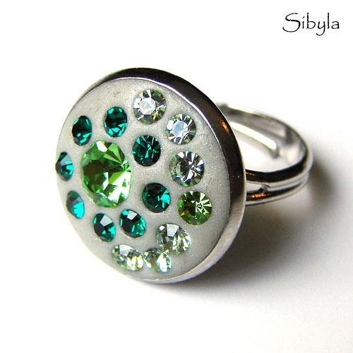 SLEVA!!! Exclusive Green prsten