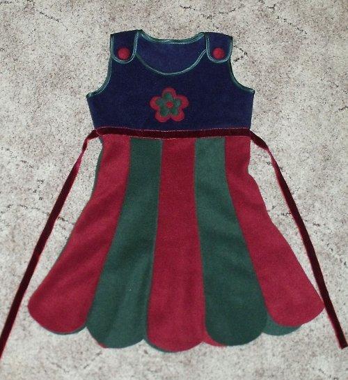 dětské fleecové šatičky 104