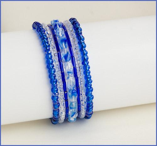 Modrý - tmavý náramek