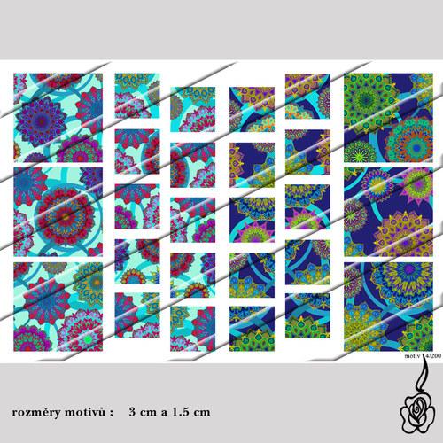 Motivy do pryskyřice - barevné čtverce