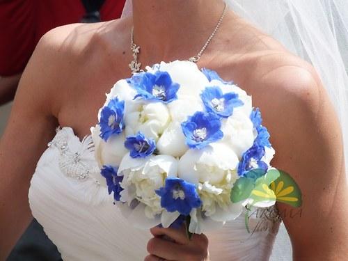 Svatební květina ***bílá & modrá