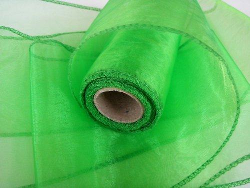 Organza stuha zelená