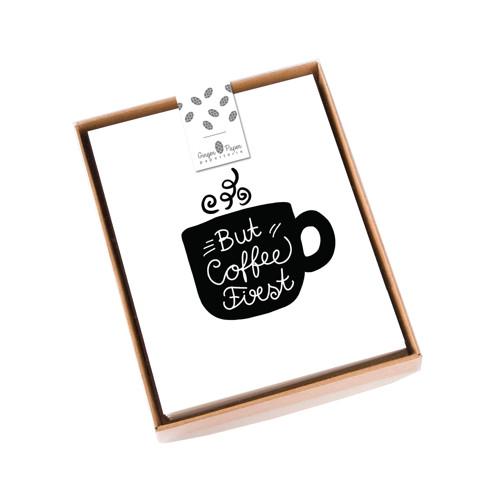 Přání Coffee Feeling Box 8ks
