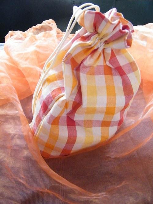 Textilní pytlíček na nadílku malý
