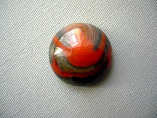 Kabošon - achát červený 20 mm, č.16