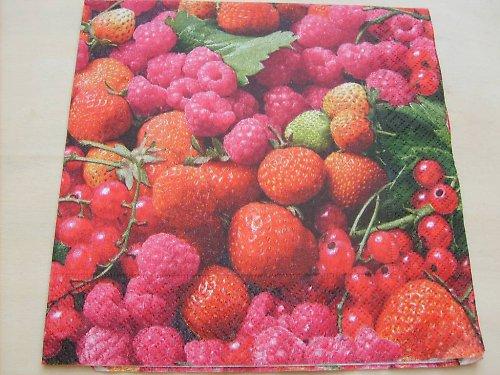 Ubrousek - maliny a jahody