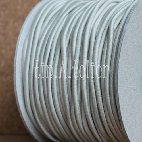 Pruženka/gumička: 2 metry x Ø 3 mm - Béžová #23