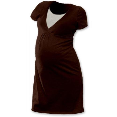Noční košile pro kojící maminky- čoko hnědá