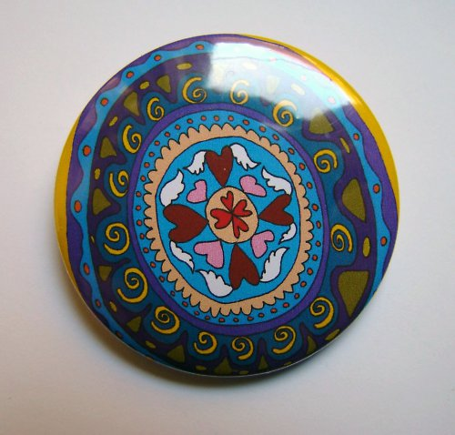 MANDALA 17 - placka - button - 44 mm
