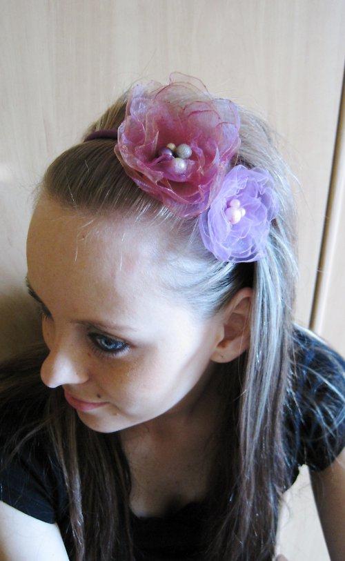 Fialková čelenka do vlasů