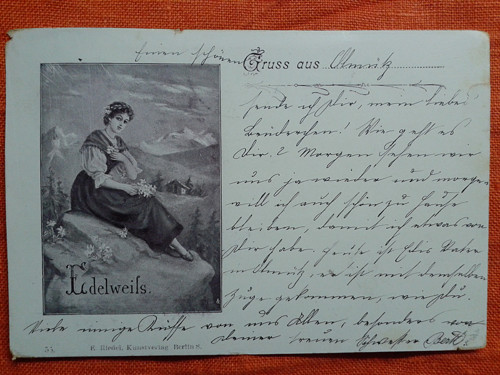 Zasněná dívka r. 1898