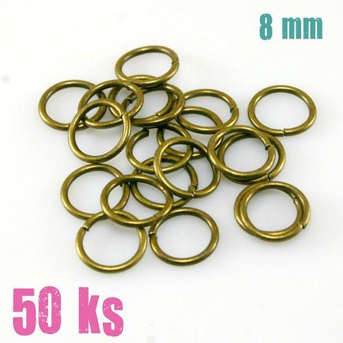 Bronzové kroužky 8 mm (50 ks)