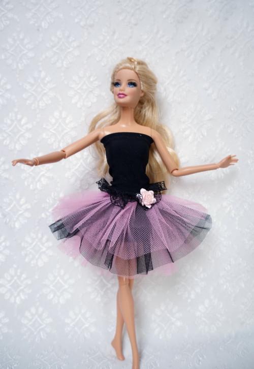 Černo-růžová baletka