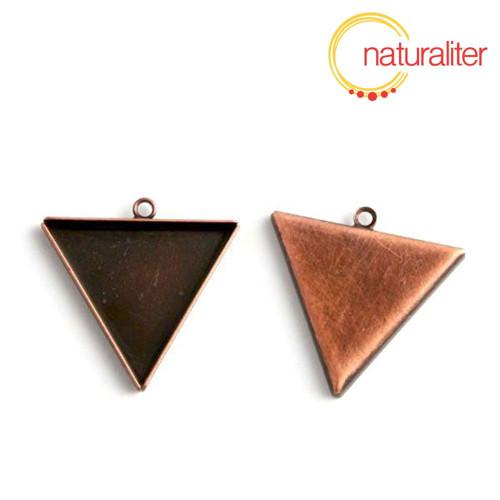 Lůžko trojúhelník 25mm staroměď