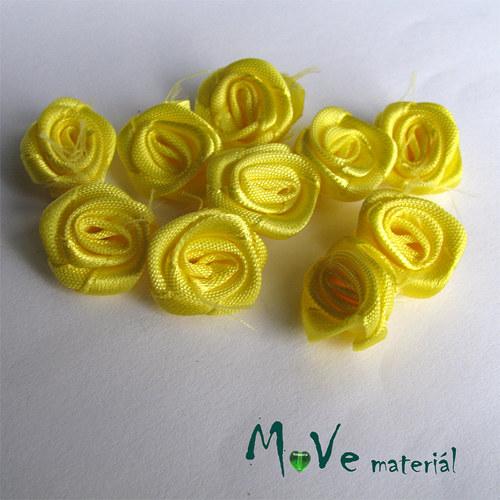 Růžička saténová žlutá Ø20mm, 10kusů