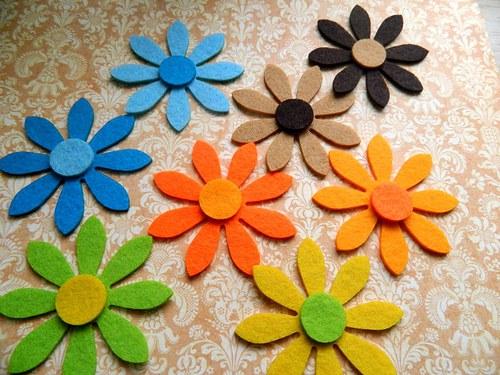 Filcový květ