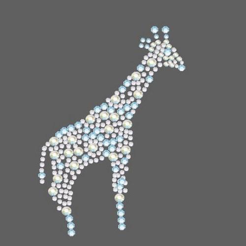 Žirafa - Štrasový nažehlovací motiv, kamínky