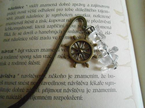 Záložka do knih s křišťálem