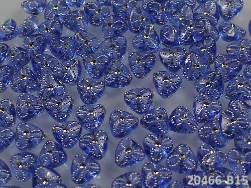 20466-B15 Korálky s kytičkou MODRÉ, bal. 20ks