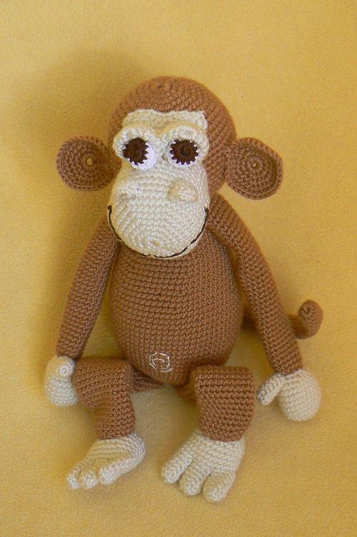 Návod na háčkovanou opičku