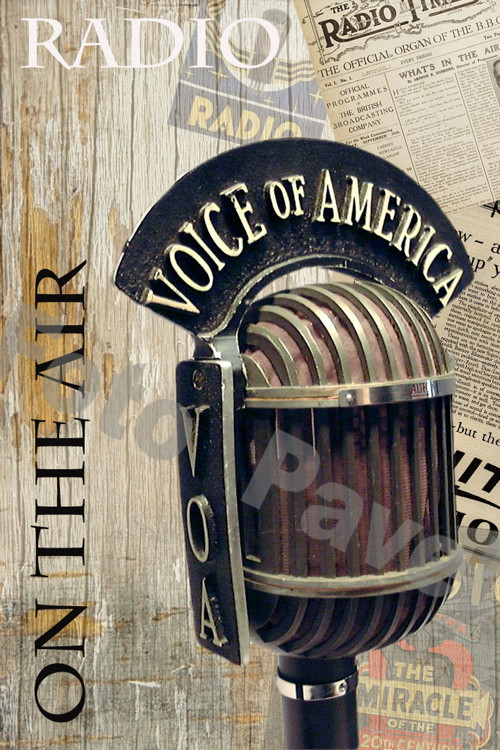 Vintage motiv - mikrofon