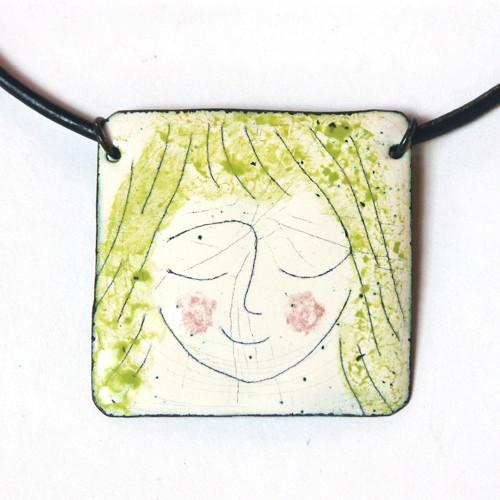 Sylvie - smaltovaný náhrdelník