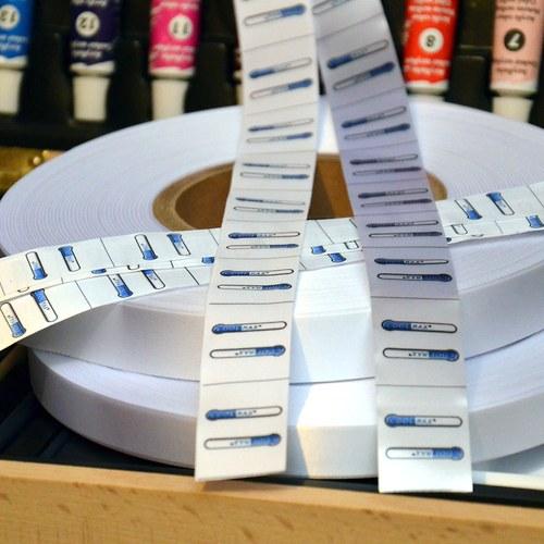 Textil. etiketa označení materiálu 30x38 mm 100 ks