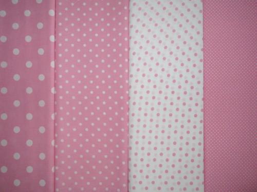 Dekorační látka metráž puntíky růžové