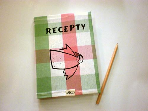 Zápisník na recepty - anděl