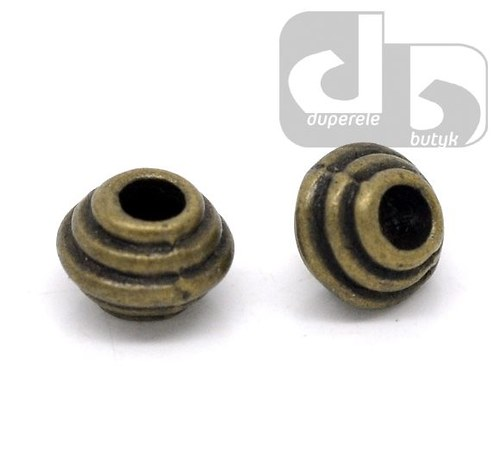 Bronzové korálky - spirálka 10 ks