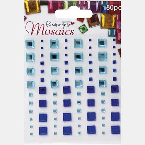 Samolepící kamínky - mozaika - modré