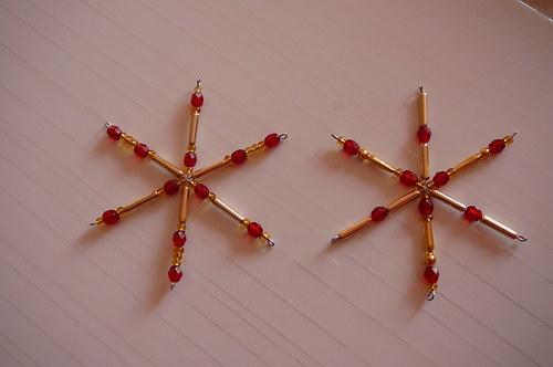 Vánoční hvězdy-červené