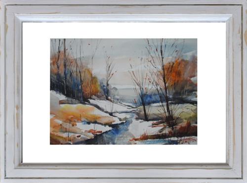 """Akvarel...\""""zima přišla dřív, než se čekalo\""""2..."""