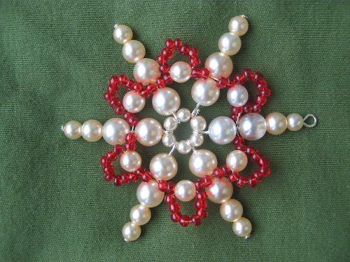 Vánoční ozdoba - hvězda červená