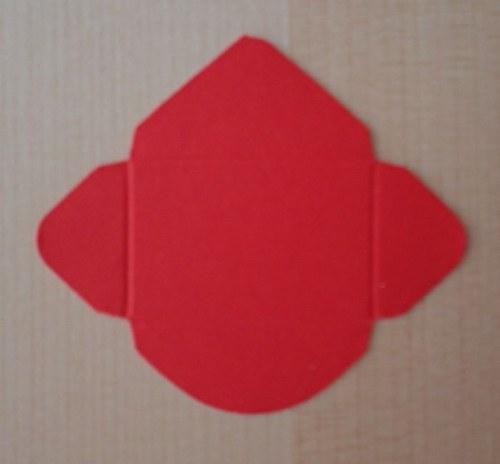 Výsek - obálka mini - světle červená 1ks