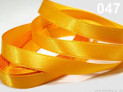 Stuha saténová š.12mm oranžovožlutá