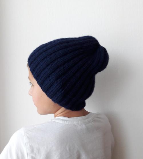 Pletená čepice uni - žebrovaná