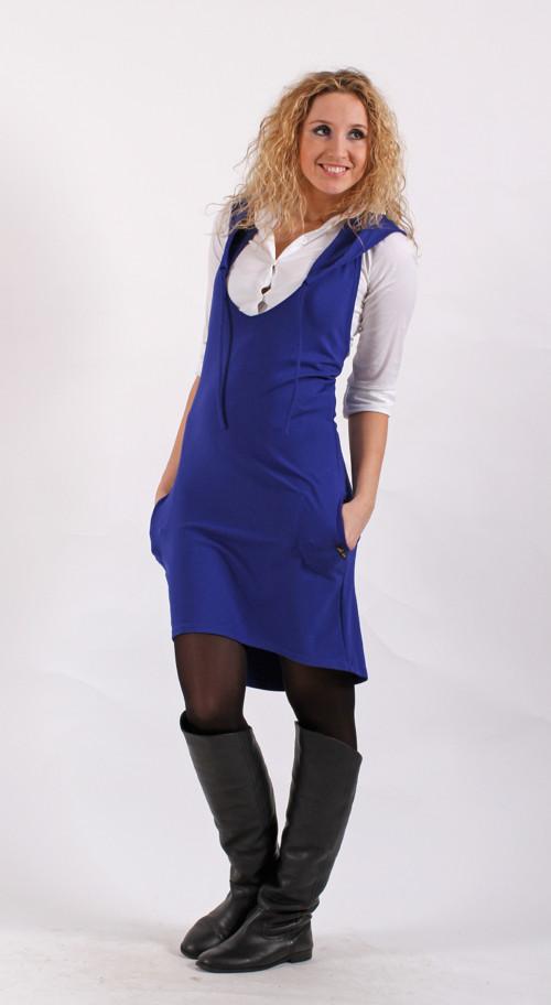 Modrá  šatovka s kapucí