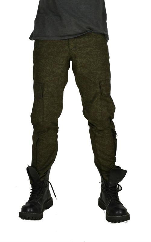 Punk kalhoty kapsáče (8 kapes)- maskáč vz.92