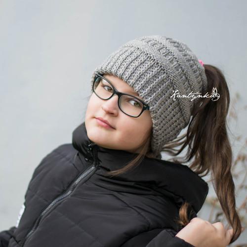Dívčí čepice na drdol třpytivá