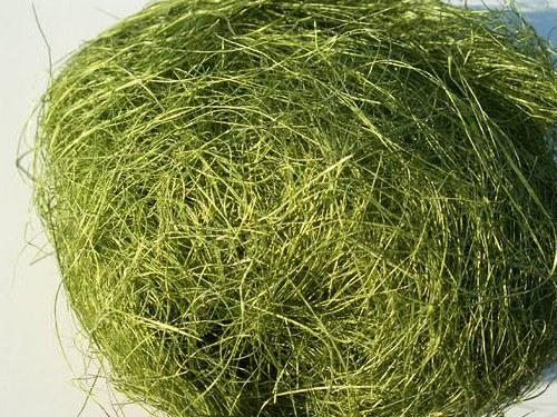 Sisal zelený oliva - 100 g (kokosové vlákno)