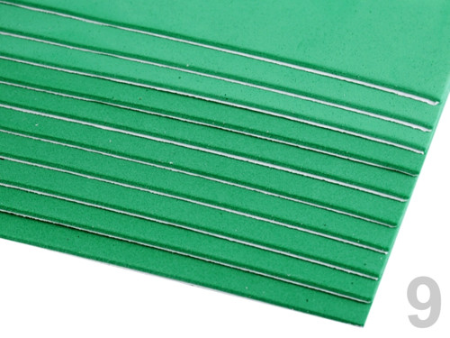 Samolepící pěnová guma Moosgummi 20x30cm - zelená