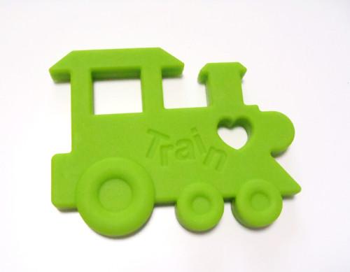 Zelená mašinka - silikonové kousátko