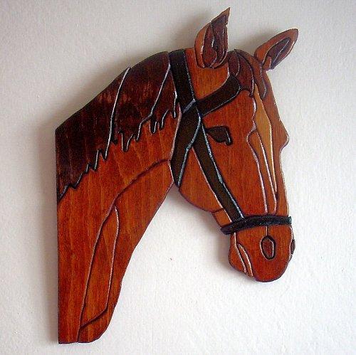 Intarzie - hlava koně