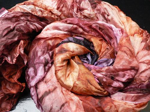 Šál fialkovo-karamelový, 180x90 cm,velký