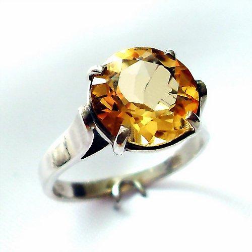 Prsten «Rosa» - stříbro 925/1000citrín