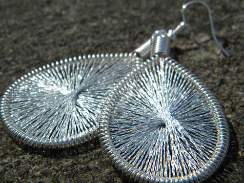 Naušnice - stříbrné třpytky