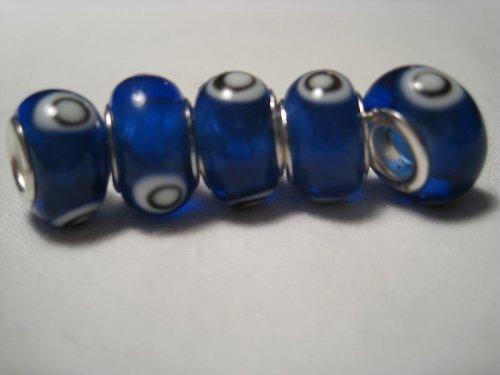 Korálek - modrá, 5 ks za 33,-- Kč